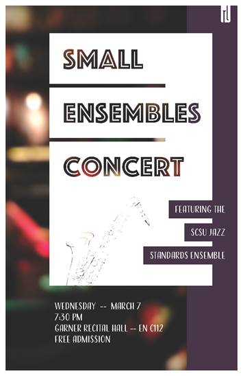 Small Ensembles Concert - March 7, 2018 at 7:30pm