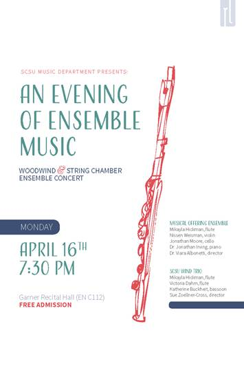 An Evening of Ensemble Music - April 16, 2018 at 7:30pm