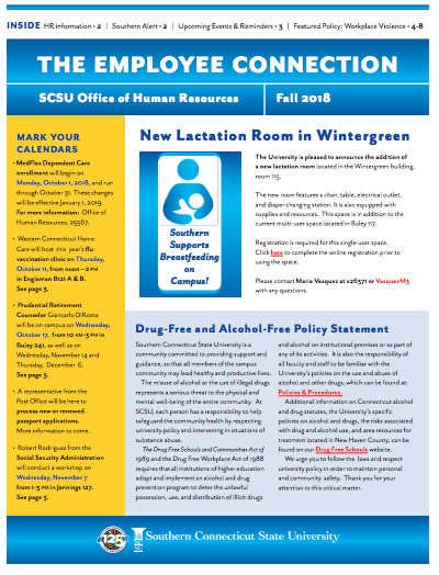 SCSU Fall 2018 Office of Human Resources Newsletters